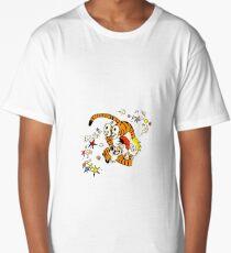 calvin and hobbes dancing Long T-Shirt