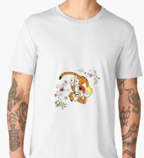 calvin and hobbes dancing Men's Premium T-Shirt