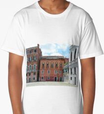 5 June 2017 Buildings from Campo Santa Maria Formosa in Venice, Italy Long T-Shirt