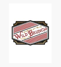 Wild Brunch Photographic Print
