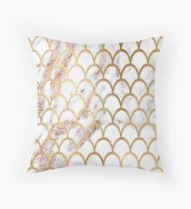 Cojín Rose gold marble - escamas de sirena