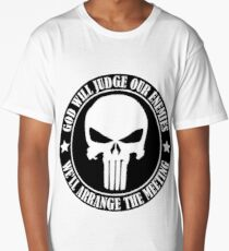 God will judge our enemies We'll arrange the meeting Long T-Shirt
