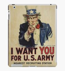 Poster, I Want You, April 1917, United States, by James Montgomery Flagg, United States Government iPad Case/Skin