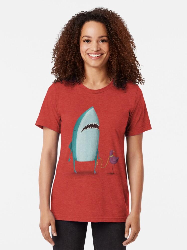 Alternative Ansicht von Hai und Freund Vintage T-Shirt