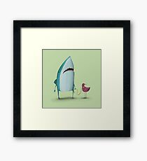 Shark and friend Framed Print
