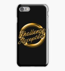 Challenge Accepted Gold iPhone Case/Skin