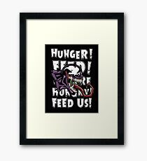 Venom White Text Art Framed Print