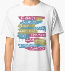 Friends From Other Ends - Pink, Blue, and Gold Theme Classic T-Shirt
