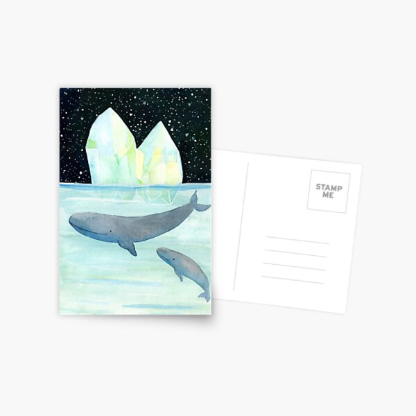 Cool whales on Antarctica Postcard