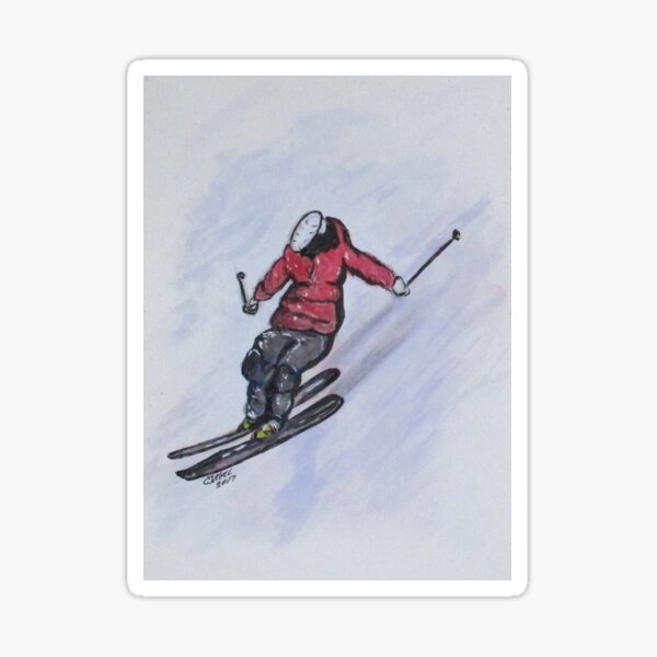 Snow Ski Fun Sticker
