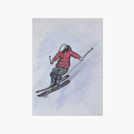 Snow Ski Fun Art Board Print