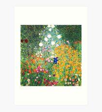 Flower Garden by Gustav Klimt Art Print