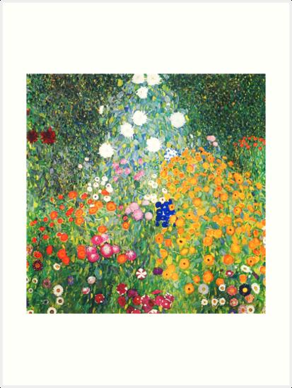«Jardín de flores de Gustav Klimt» de Vintage Designs
