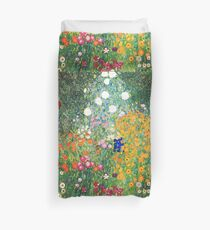 Flower Garden by Gustav Klimt Duvet Cover