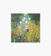 Flower Garden by Gustav Klimt Art Board Print