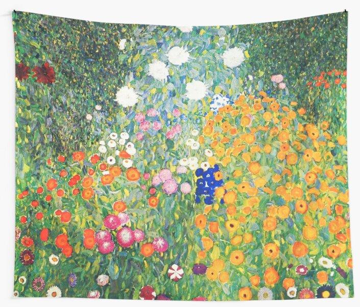 Flower Garden by Gustav Klimt by Vintage Designs