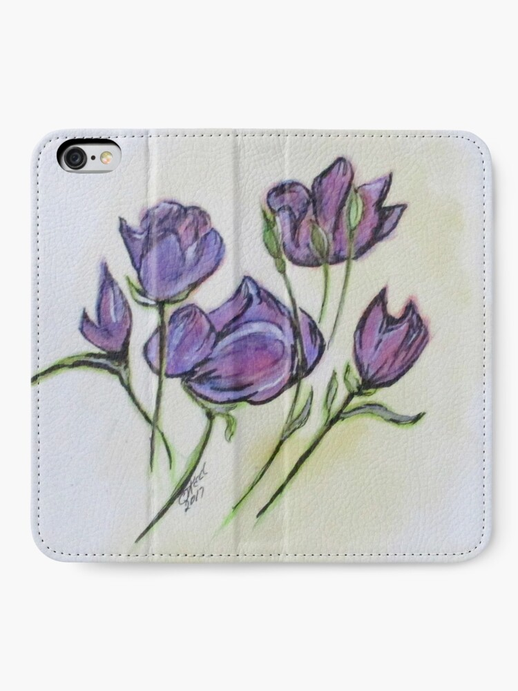 Alternate view of Water Color Pencil Exercise iPhone Wallet