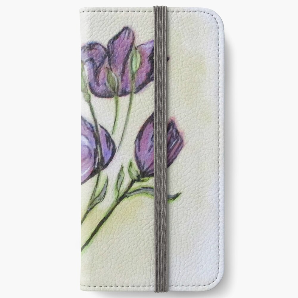 Water Color Pencil Exercise iPhone Wallet