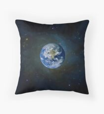 Earth is round Throw Pillow