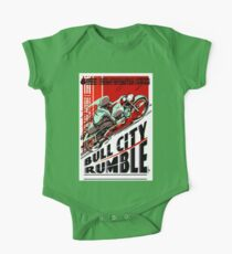 BULL CITY RUMBLE: Motorcycle Racing Advertising Print One Piece - Short Sleeve