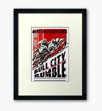 BULL CITY RUMBLE: Motorcycle Racing Advertising Print Framed Print