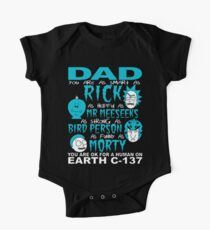 Rick And Morty Fathers Day Dad You Are One Piece - Short Sleeve
