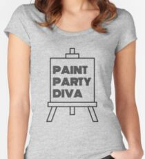Paint Party Diva Super Cute T Shirt Women's Fitted Scoop T-Shirt