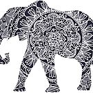 Doodle Elephant by WelshPixie