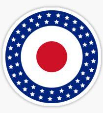 American Flag Style MOD Target  Sticker