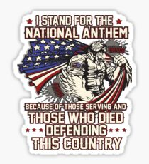 Veteran Stands For The National Anthem Sticker