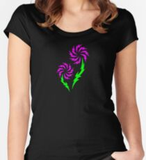 Tribal Flower Women's Fitted Scoop T-Shirt