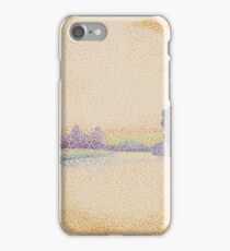 The Banks of the Marne at Dawn, c. 1888. Dubois-Pillet iPhone Case/Skin