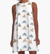 Magical Theme Park Mountain Rides A-Line Dress