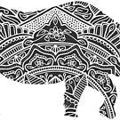 Doodle Rhino by WelshPixie