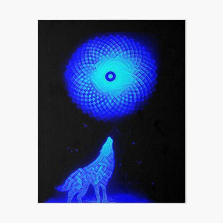 Fractal Moon Cry by Spaced Painter Art Board Print