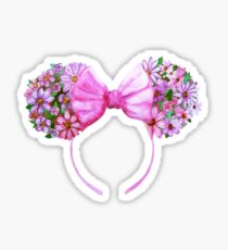 Floral Minnie Ears Watercolor Sticker