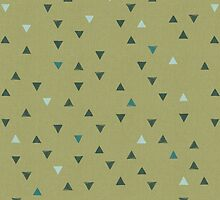 DOWN UP / olive green / seaweed / turquoise / aqua mint by Daniel Coulmann