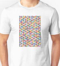 1904 - Circle Webbing In Colorful Harmony Unisex T-Shirt