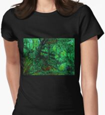 The Green Wild Womens Fitted T-Shirt