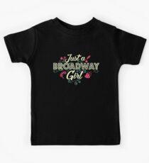 Just a Broadway Girl Kids Tee