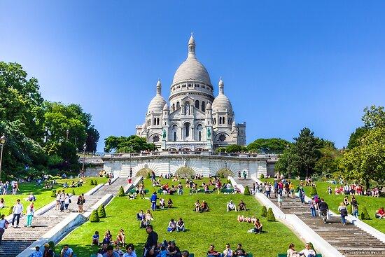 Sacre Coeur, Paris 3 by John Velocci