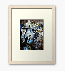 The Man With The Big Trombone Framed Print