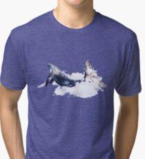 Whale Color Dreams Tri-blend T-Shirt