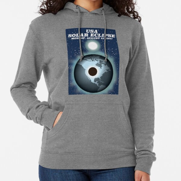 USA Solar Eclipse 2017 vintage poster Lightweight Hoodie