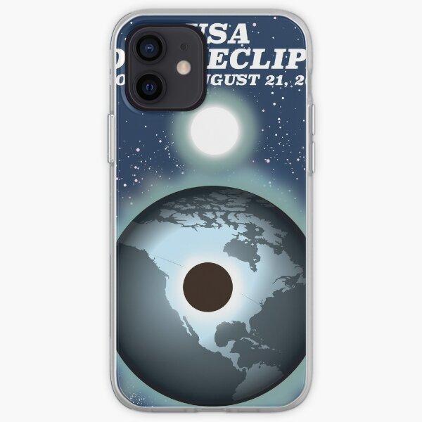 USA Solar Eclipse 2017 vintage poster iPhone Soft Case