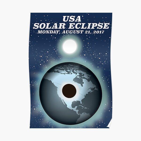 USA Solar Eclipse 2017 vintage poster Poster