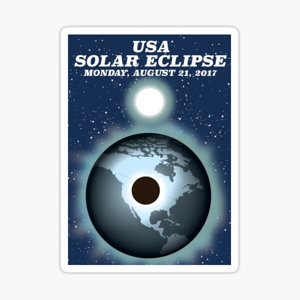 Portrait Vintage Cahokia Illinois Solar Eclipse 2 Sticker