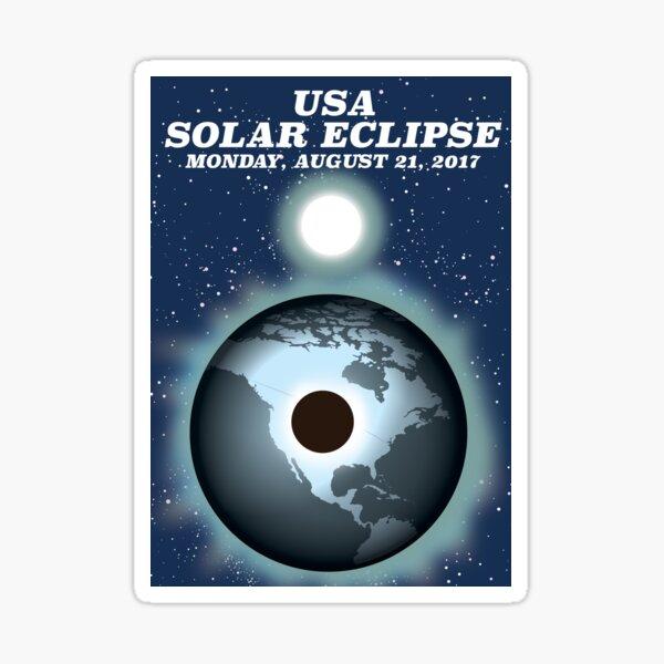 USA Solar Eclipse 2017 vintage poster Sticker