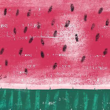 Melone in Kreide-Optik von farbcafe