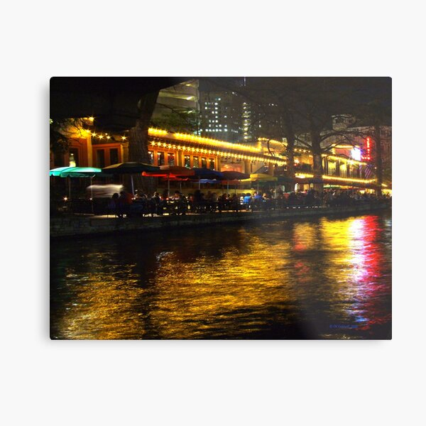 River Night Life Metal Print